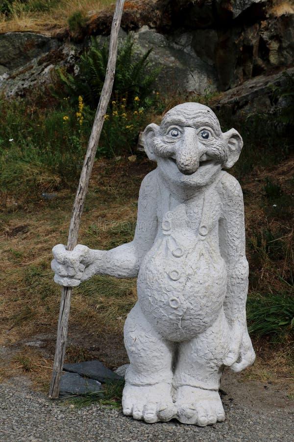 статуя тролля в Норвегии стоковое изображение rf
