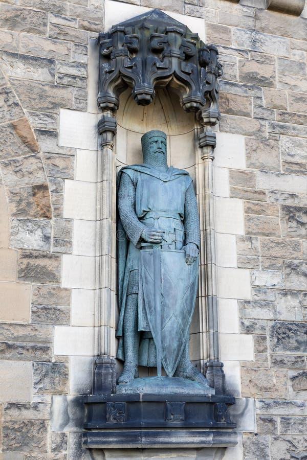 Статуя Уильям Уоллес скульптором Александром Carrick стоковые изображения