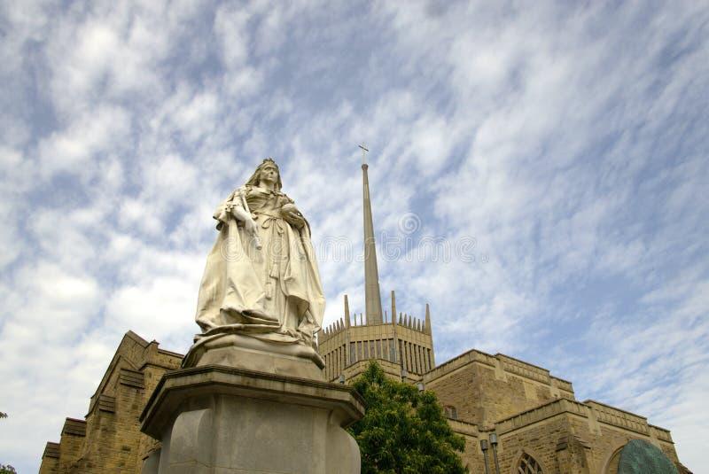 Статуя ферзя Виктории в Блэкберне стоковое изображение