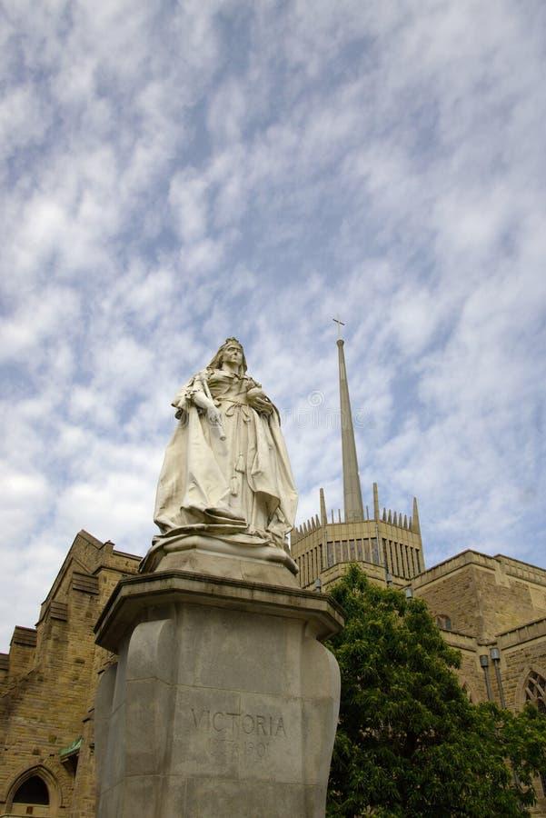 Статуя ферзя Виктории в Блэкберне стоковые изображения