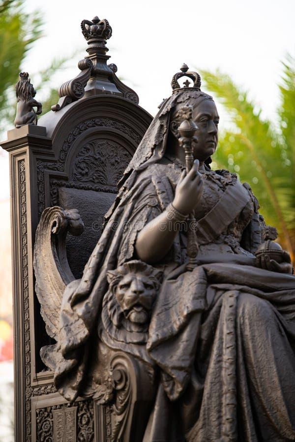 Статуя ферзя Виктории в Гонконге стоковое фото