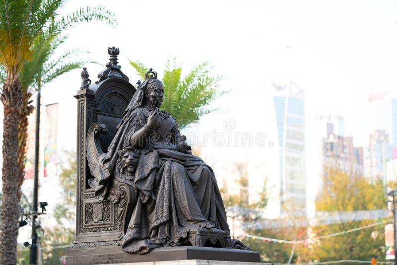 Статуя ферзя Виктории в Гонконге стоковые изображения