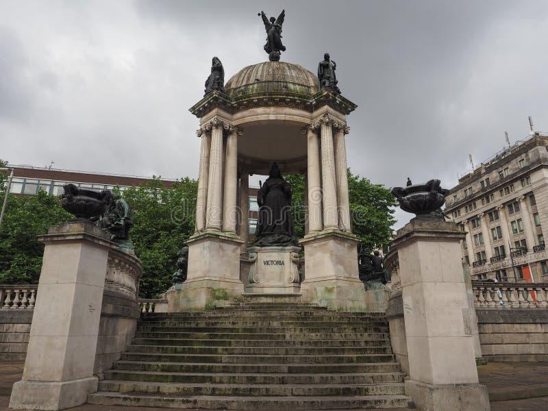 Статуя ферзя Виктории в Ливерпуле стоковое фото rf