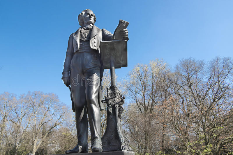 Статуя Феликса Menedelssohn, Дюссельдорф стоковые фото