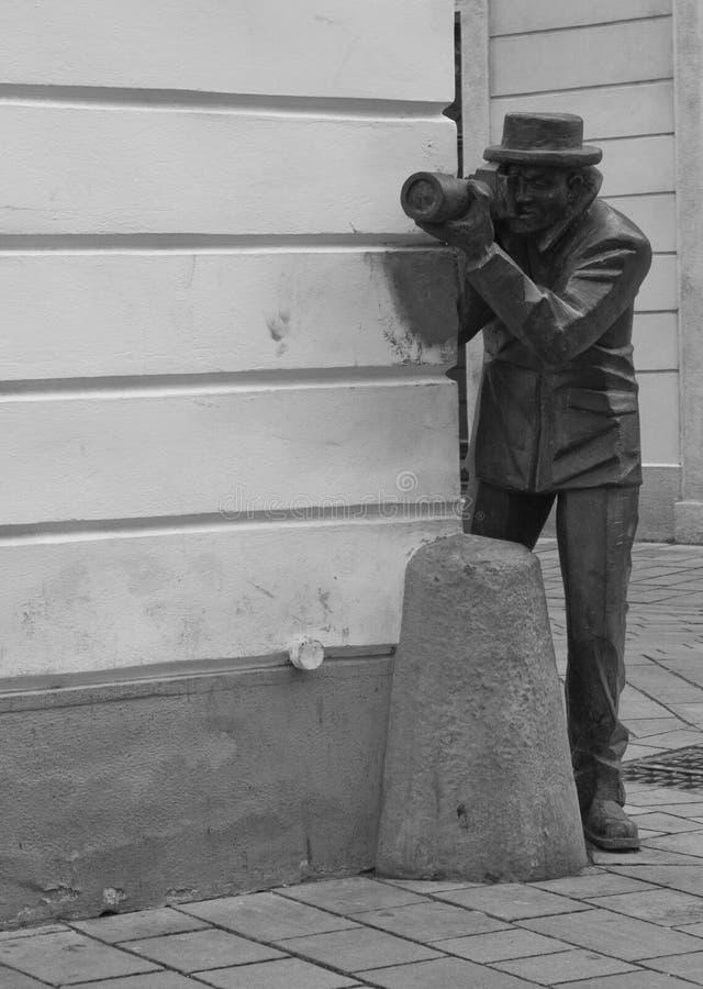 Статуя фотографа, Братислава, Словакия, Европа стоковые изображения rf