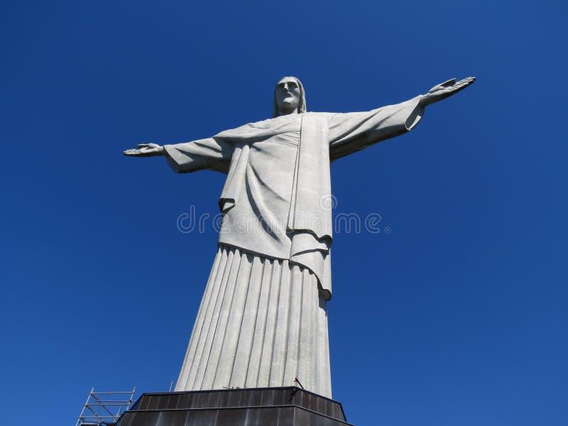 Статуя Христос Рио-де-Жанейро спаситель стоковые изображения