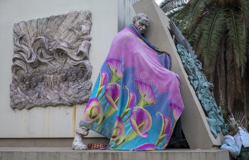 Статуя Хуан Доминго Peron в городе Буэноса-Айрес, Аргентины стоковое фото rf