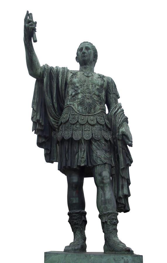 Статуя цезаря в Рим стоковое фото rf