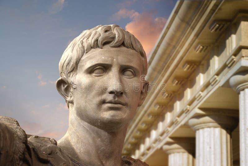 статуя цезаря julius rome augustus стоковое фото rf