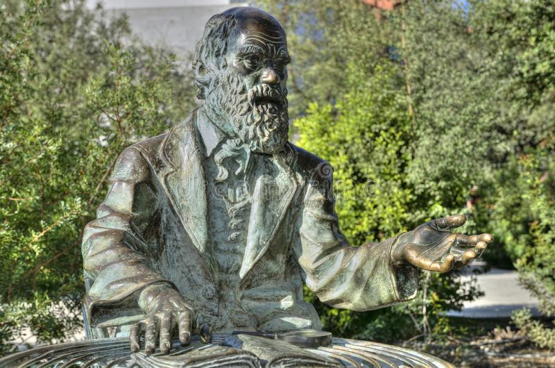 Статуя Чарльза Дарвина стоковое фото