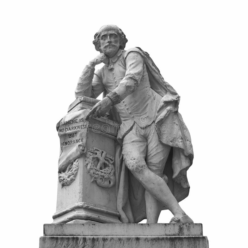 статуя Шекспир стоковая фотография rf