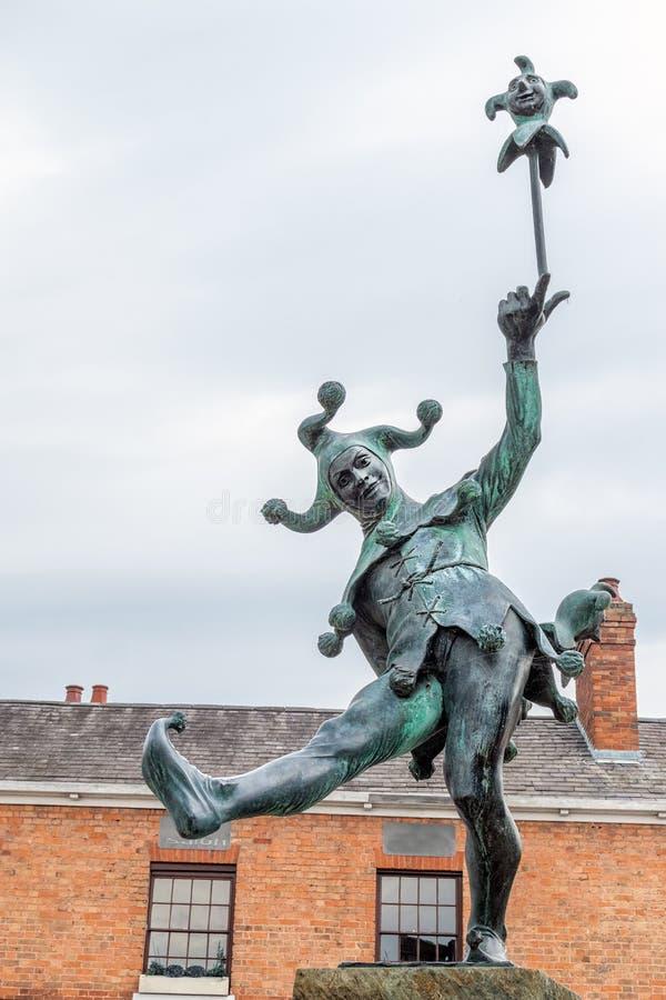 Статуя шута стоковое фото rf