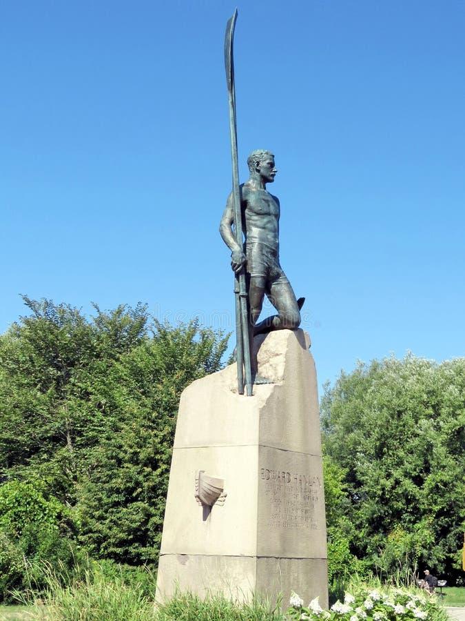Статуя 2016 Эдварда Hanlan озера Торонто стоковые изображения rf