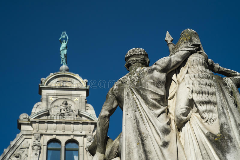 Статуя января Frans Willems в Gent стоковое изображение