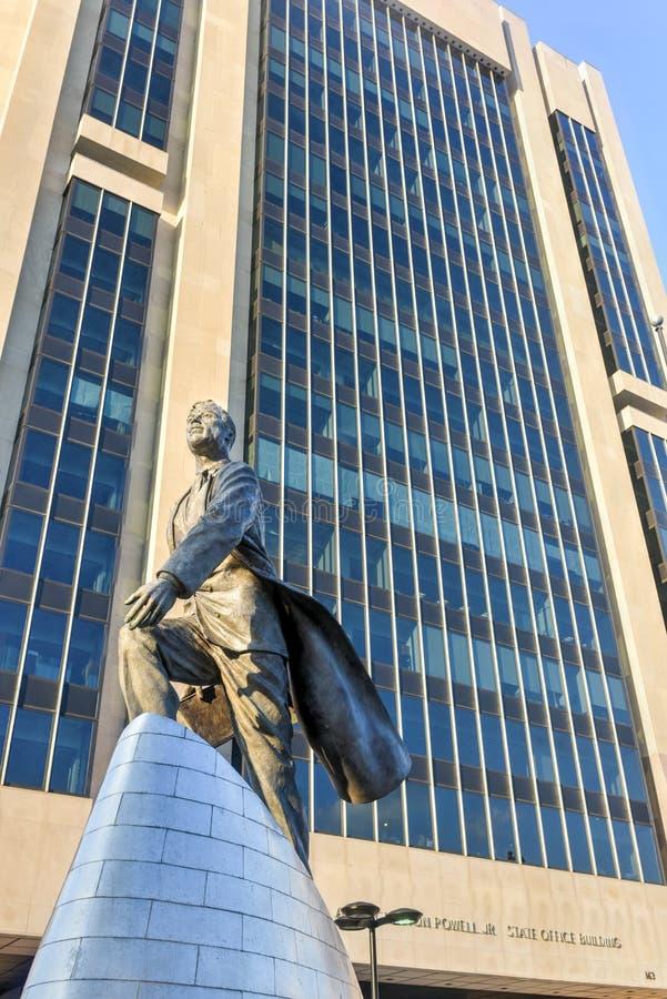 Статуя Adam Clayton Пауэлл - NYC стоковое фото
