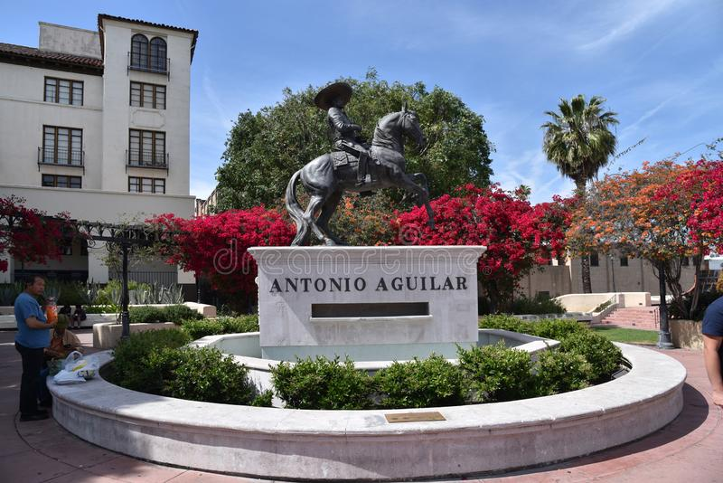 Статуя Antonio Aguilar в Лос-Анджелесе стоковые фотографии rf