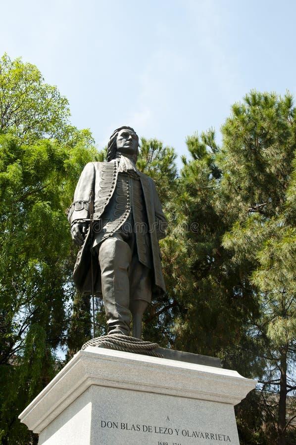 Статуя Blas De Lezo - Мадрид - Испания стоковое изображение