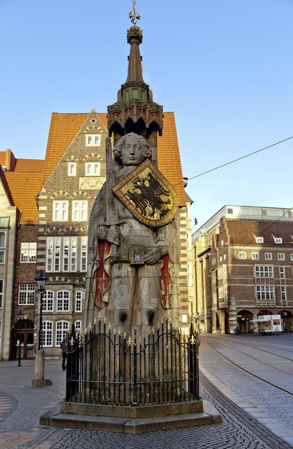 статуя bremen roland стоковые изображения rf