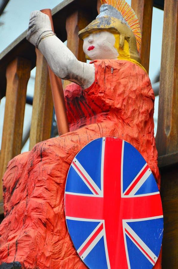 Статуя Britannia стоковые изображения rf