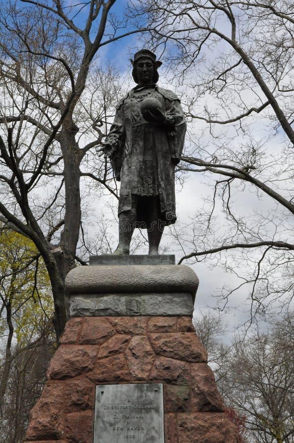 Статуя Christopher Columbus в New Haven, Коннектикуте стоковое изображение rf