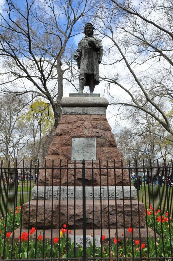 Статуя Christopher Columbus в New Haven, Коннектикуте стоковое изображение