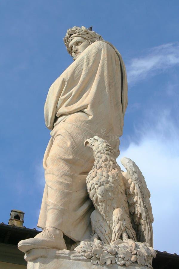 Статуя Dante, Флоренс стоковое изображение