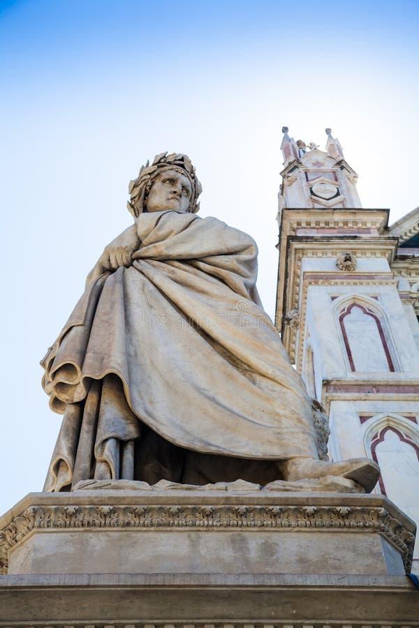 Статуя Dante стоковое изображение rf