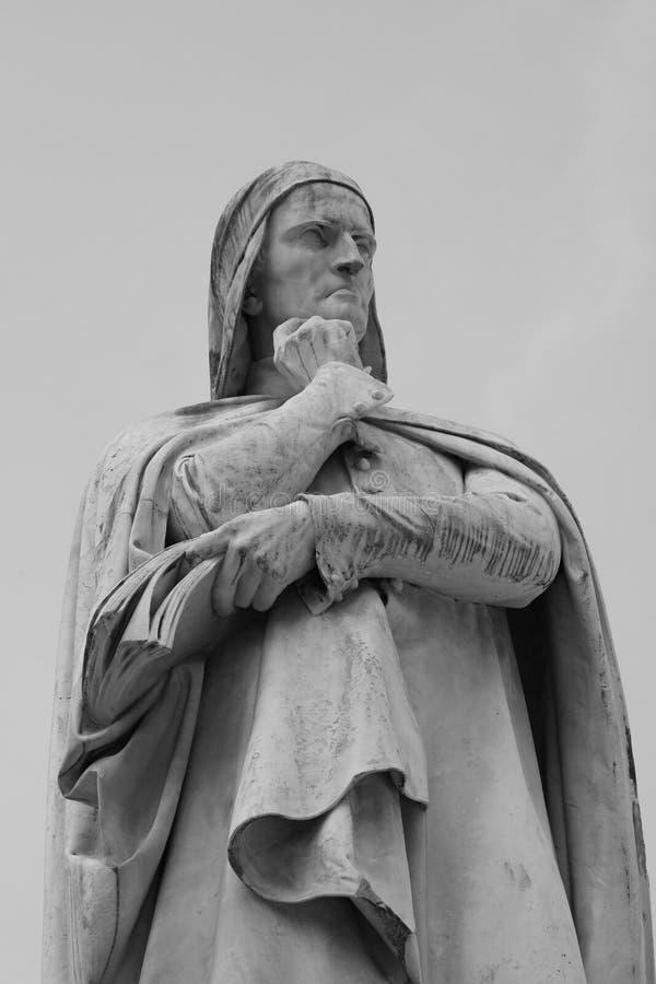Статуя Dante стоковое фото