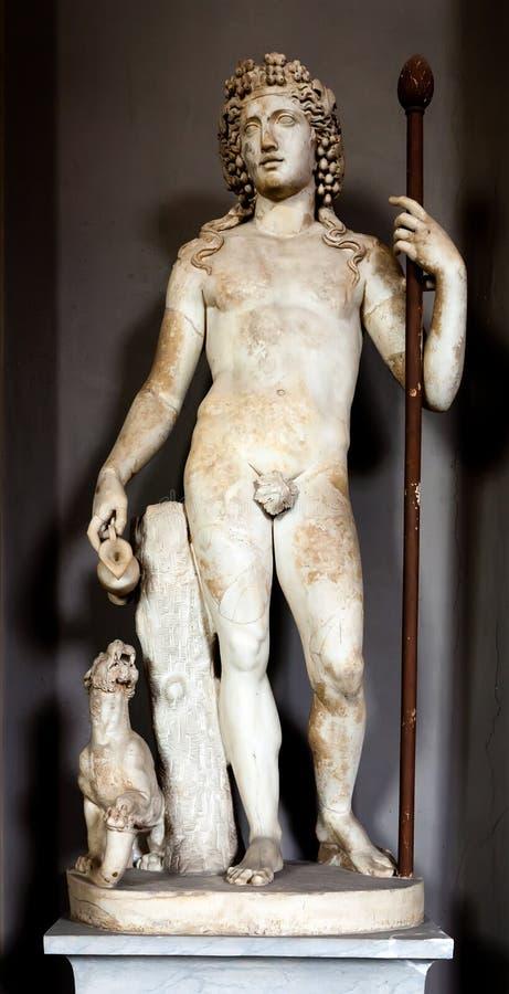 Статуя Dionysus стоковая фотография