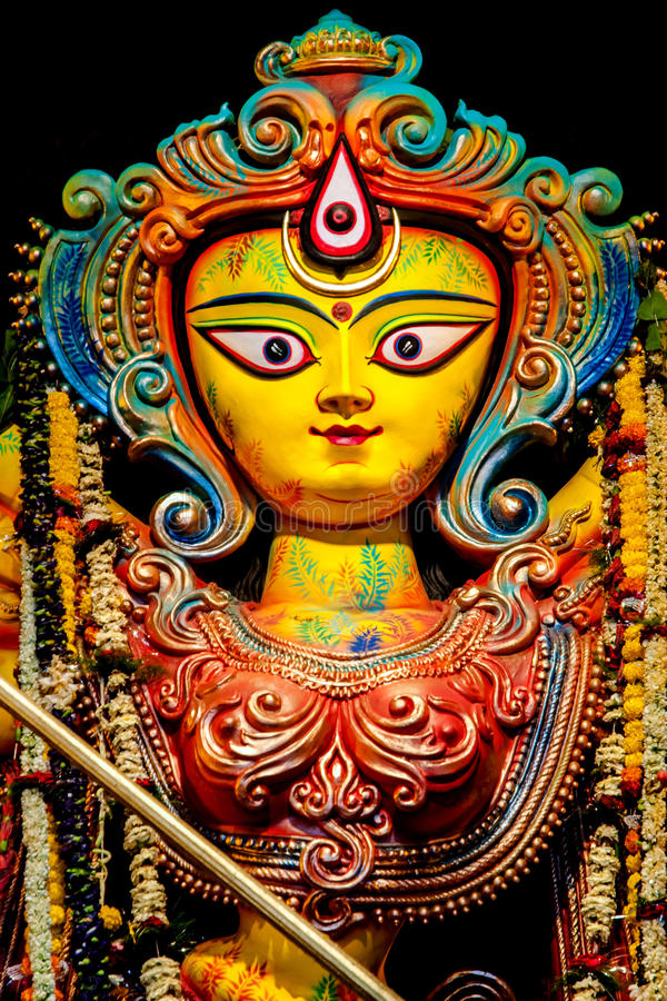 Статуя Durga богини стоковые фотографии rf