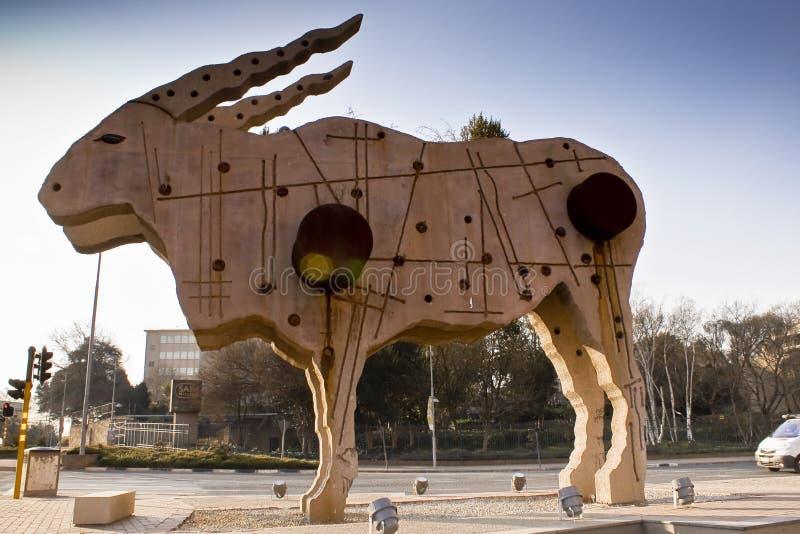 статуя eland города искусства стоковые изображения