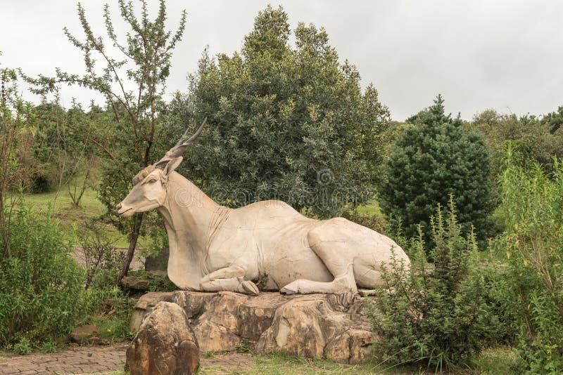 Статуя eland на Didima на пике собора стоковые изображения
