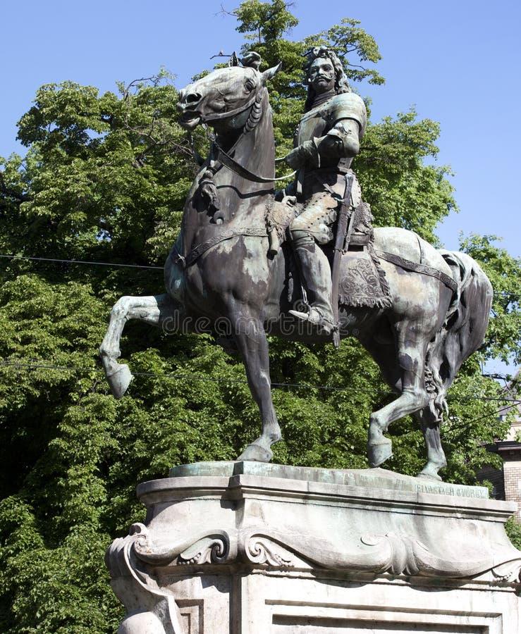 Статуя Ferenc Rakoczi II стоковое изображение rf