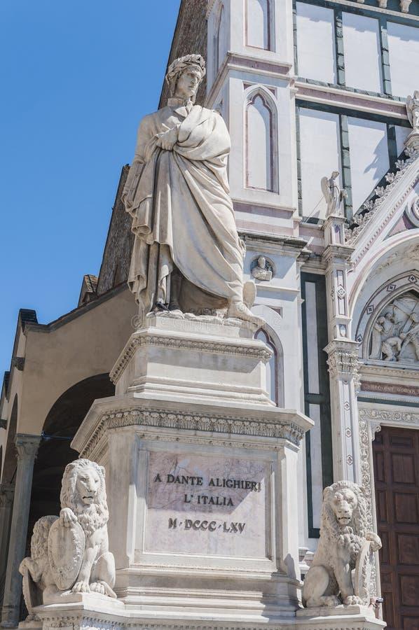 статуя florence Италии dante alighieri стоковая фотография rf