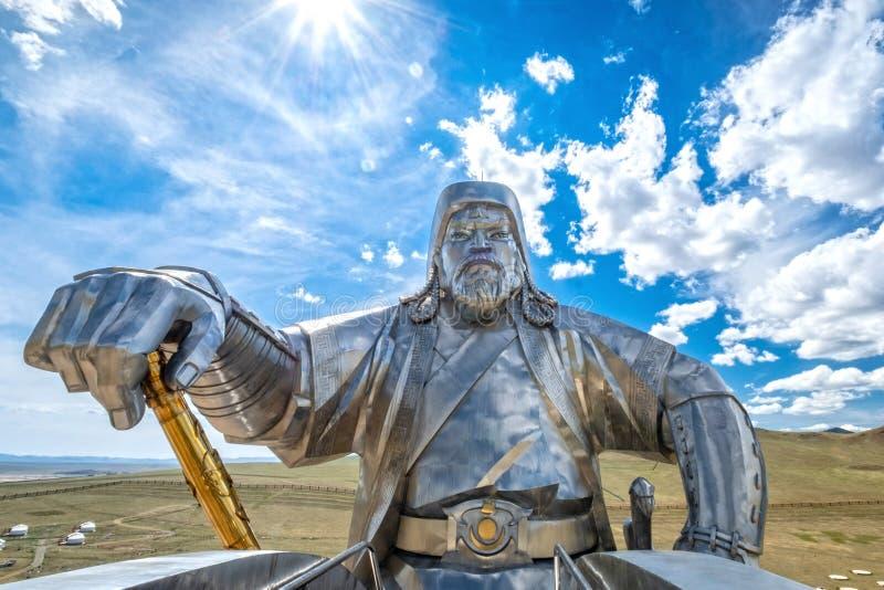 Статуя 2008 Genghis Khan конноспортивная стоковая фотография