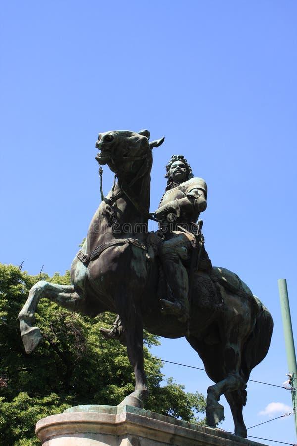 Статуя II Rakoczi Ferenc в Szeged, Венгрии, зоне Csongrad стоковое фото rf