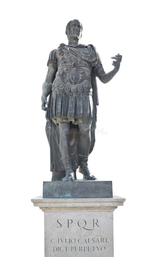 статуя iulius императора цезаря стоковое изображение rf