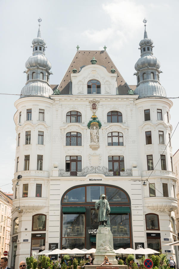 Статуя Johannes Gutenberg мемориальная - вена стоковое изображение rf