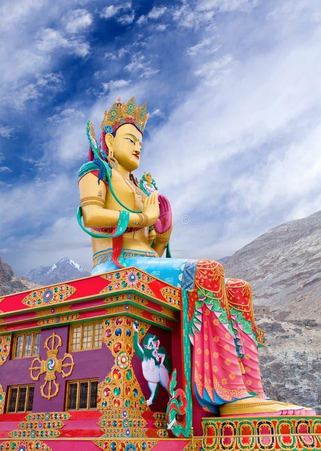 Статуя Maitreya Будды в Ladakh, Индии стоковые фото