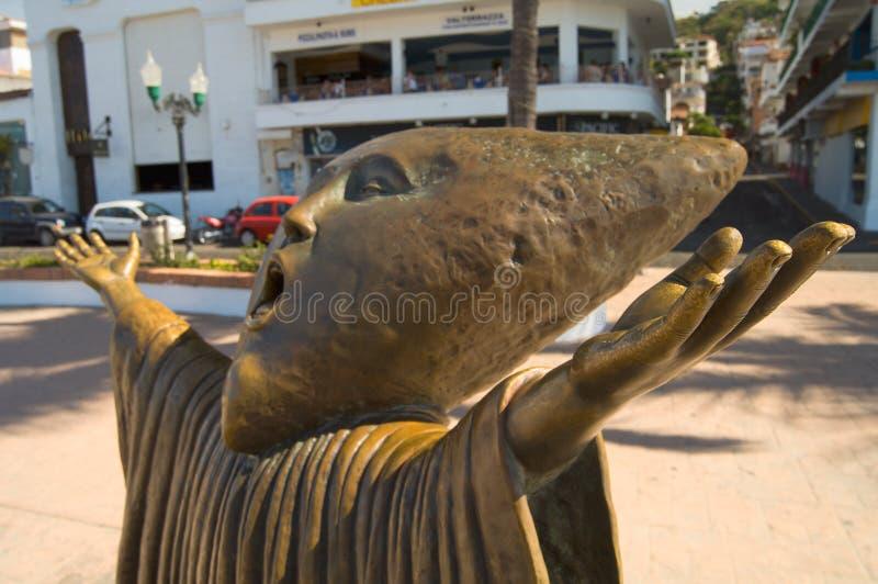 статуя malecon стоковая фотография rf