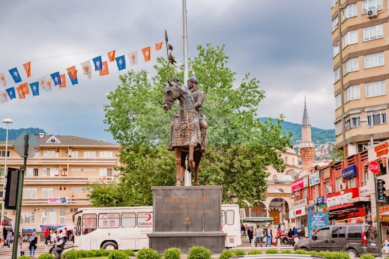 Статуя Osman Gazi в Бурсе, Турции стоковые фото