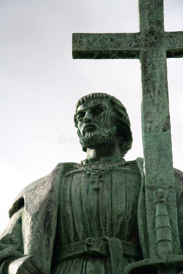 статуя pedro alvares cabral стоковое изображение