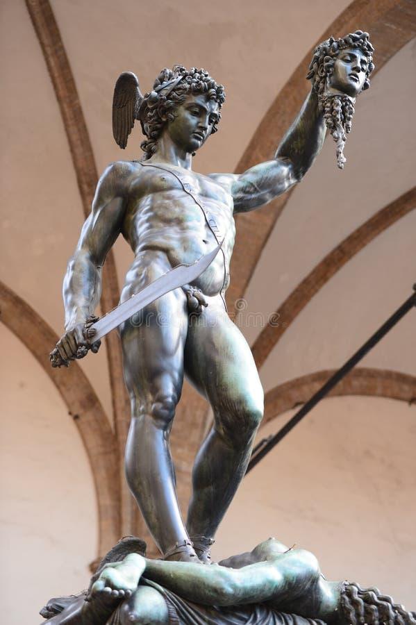 Статуя Perseus в Флоренсе, Италии стоковые изображения rf