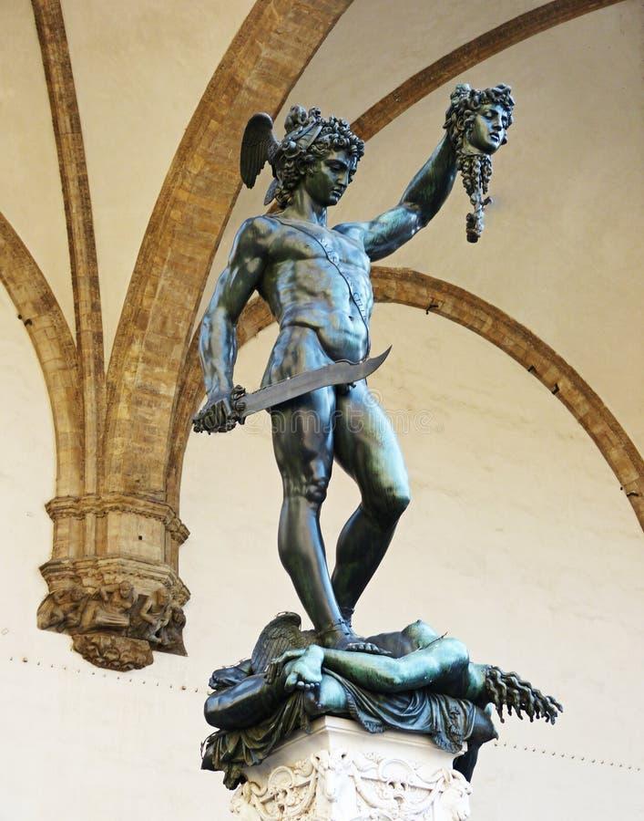 Статуя Perseus и Медузы во Флоренс, Италии стоковое фото rf