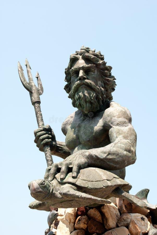 статуя poseidon стоковое фото rf
