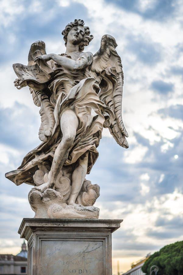 статуя rome ангела стоковое фото