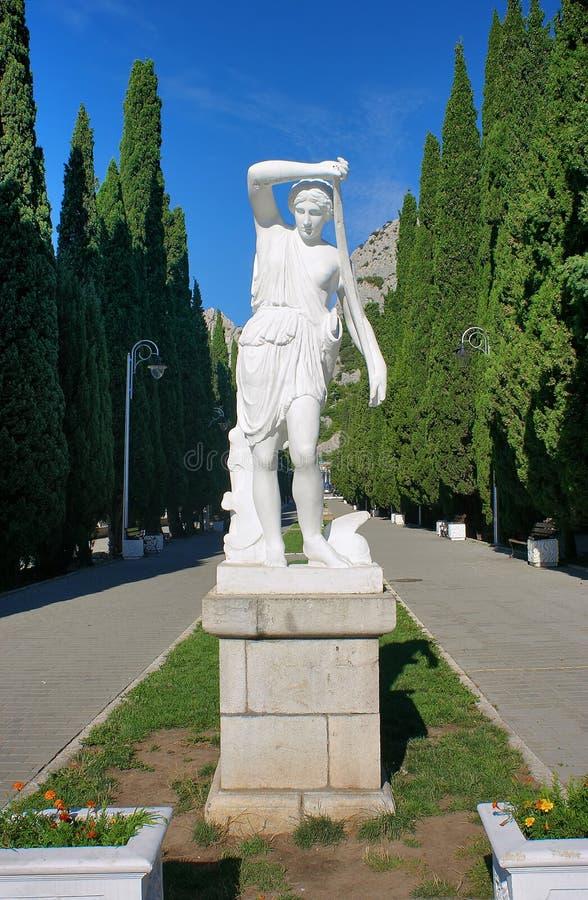 статуя simeiz diana artemis antique стоковое фото rf