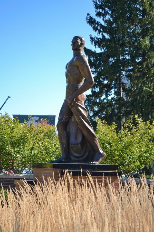 Статуя Sparty на университетском кампусе штата Мичиган стоковое фото rf