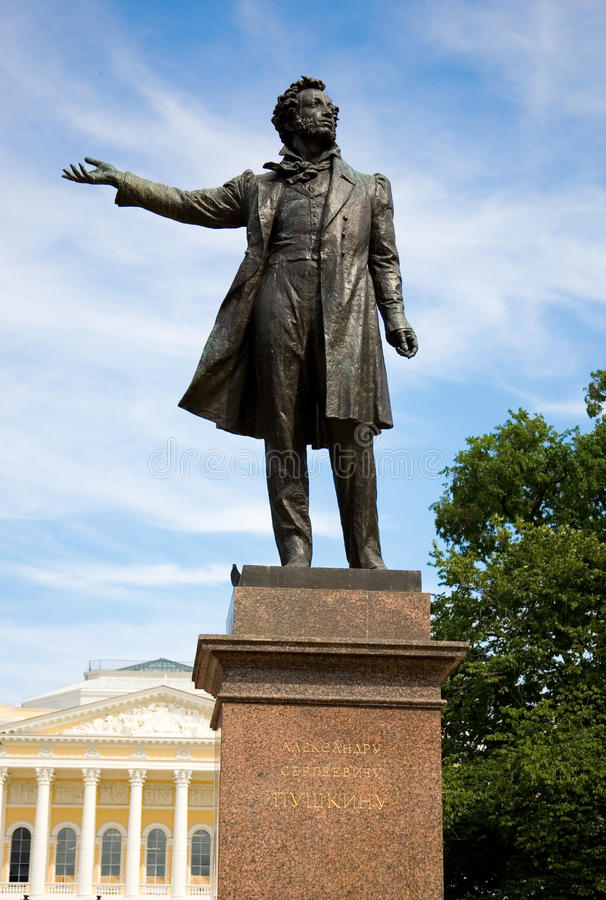 статуя st petersburg pushkin искусств квадратная стоковое фото rf