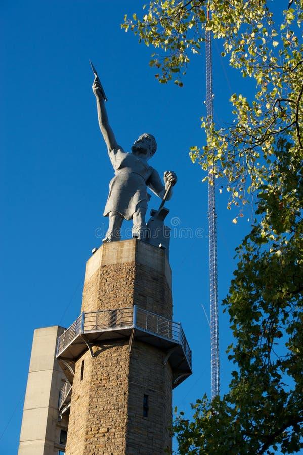 Статуя Vulcan стоковые изображения rf